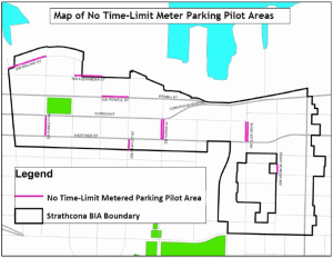 Map of New Parking Meter Locations